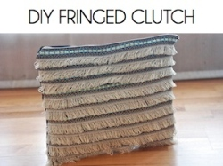 Box_DIY FRINGED CLUTCH