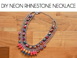 Box_DIY NEON RHINESTONE NECKLACE