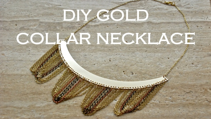 Gold Collar Chain Necklace