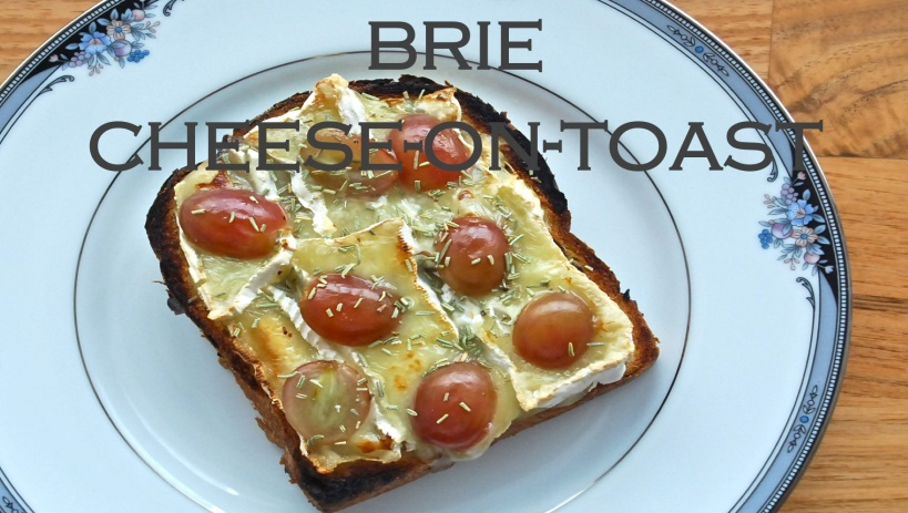 Brie cheese on toast