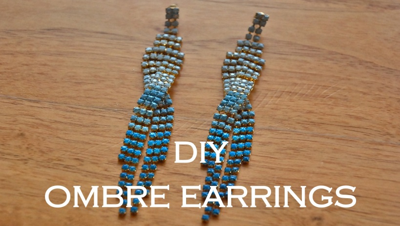 ombre earrings