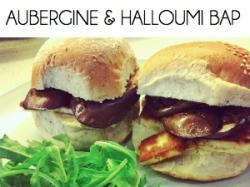 aubergine halloumi sandwich BOX