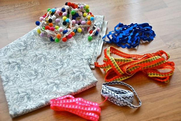 DIY Festival Boho Bag materials