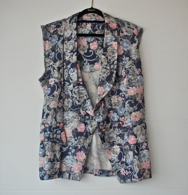 DIY Refashioned Floral Blazer after