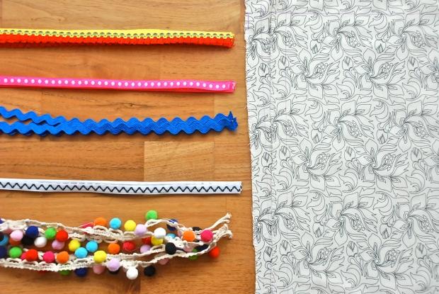 DIY Festival Boho Bag Material closeup