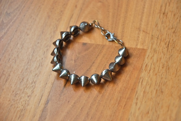 Refashioned Spike Bracelet after