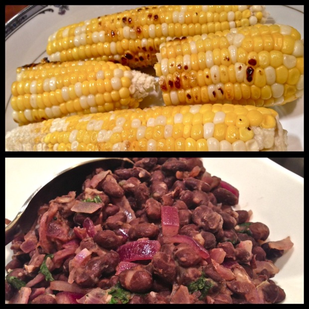 Grilled Corn & Black Beans