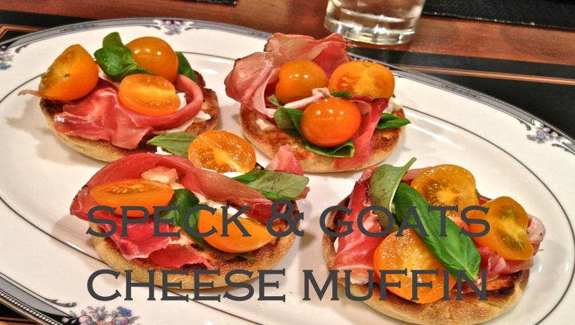speck and goats cheese muffin