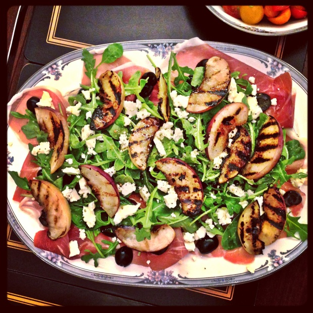 Homemade Proscuitto and Peaches Salad