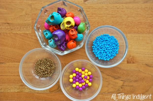 DIY Sugar Skull Chain Materials