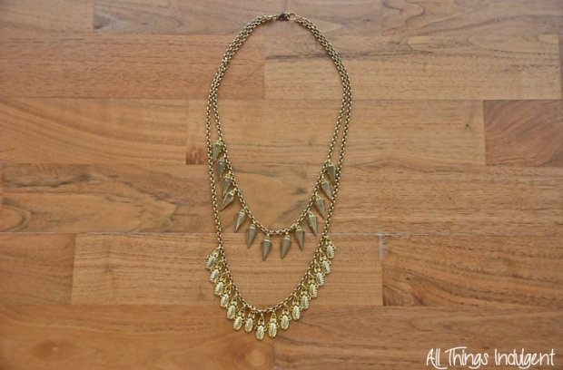 DIY Double Chain Necklace completed