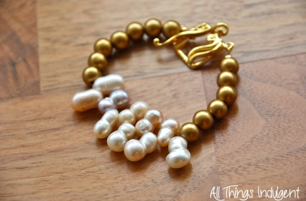Pearl and Gold Arm Candy