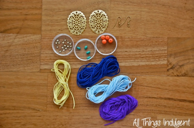 DIY D&G inspired earrings materials