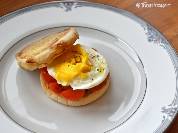 Egg Tomato Sandwich Closeup