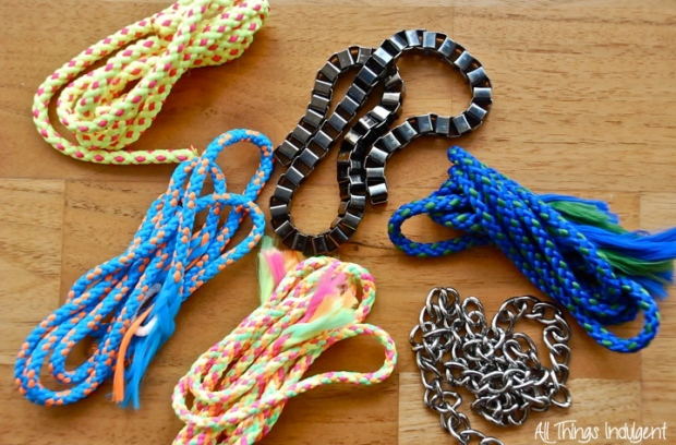 Twisted Cord Necklace Materials