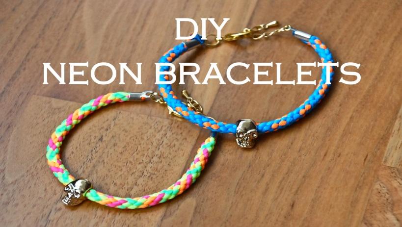 DIY Neon Cord Bracelet