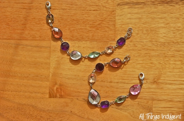 DIY Jewelled Bracelet Finished