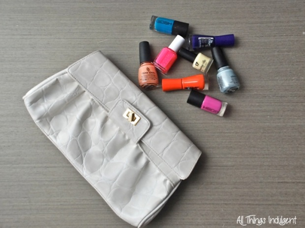 DIY Paint Splatter Clutch Upstyle