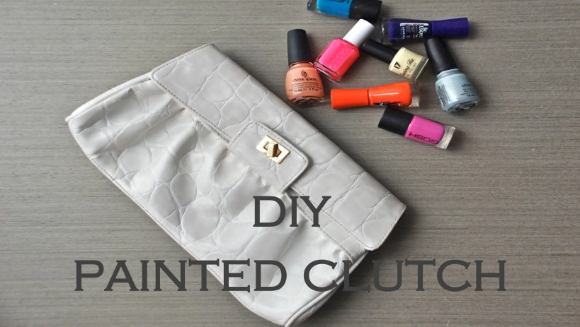 Painted Clutch Refashion