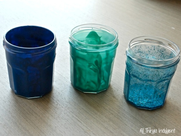 DIY Painted Jam Jars