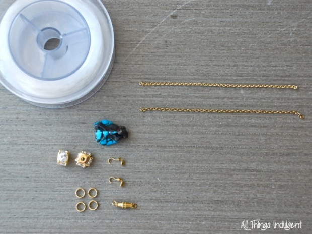 DIY Crystal & Turquoise Materials