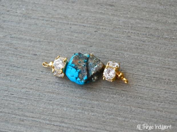 DIY Crystal & Turquoise detail