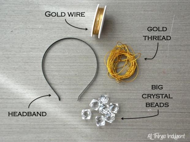 DIY Crystal Headband Materials