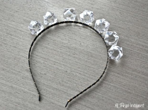 DIY Crystal Headband wired