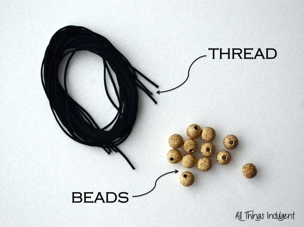 DIY Shamballa Bracelet Materials