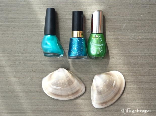DIY Glitter Shells