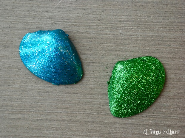 DIY Glitter Shells 1