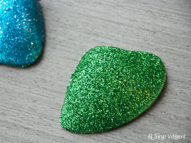 DIY Glitter Shell detail