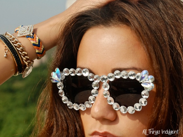 DIY Disco Embellished Sunglasses