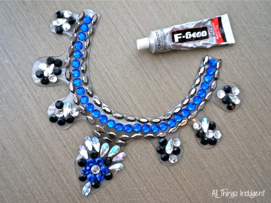 Crystal Bib Necklace glued