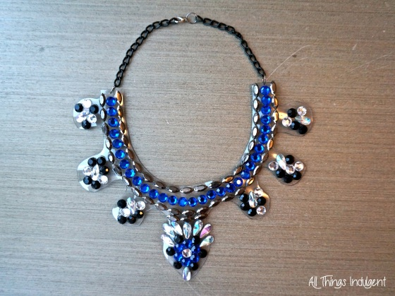 Crystal Bib Necklace complete
