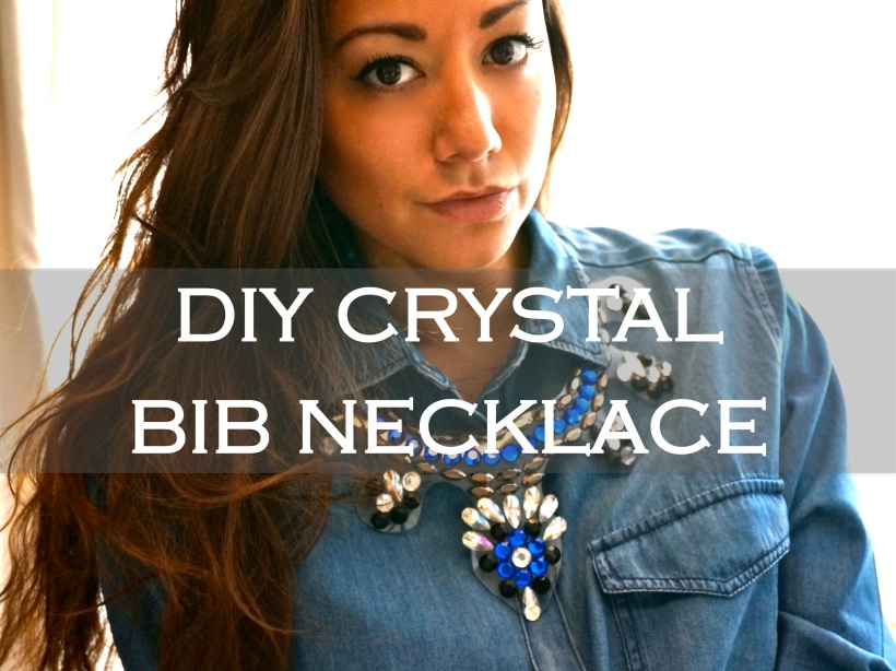 DIY Crystal Bib Necklace