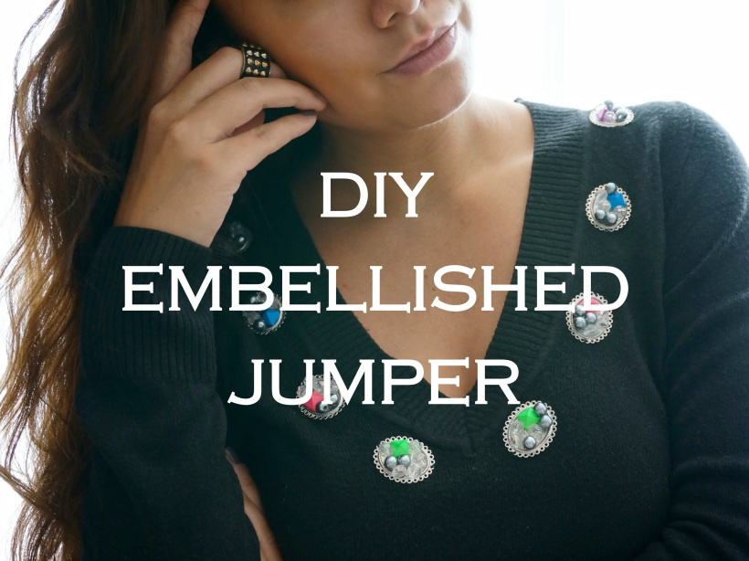 DIY Embellished Jumper Feature