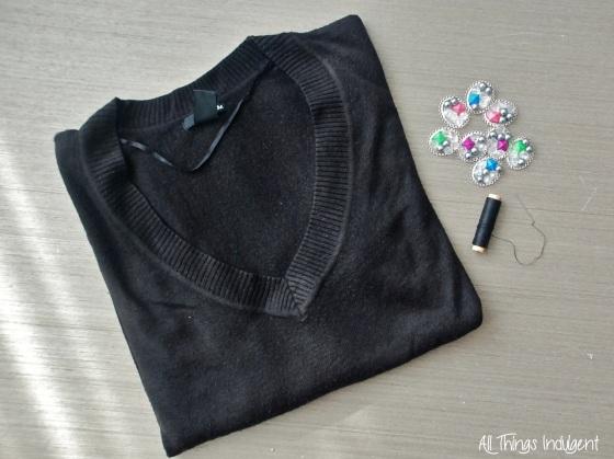 Embellished Jumper materials