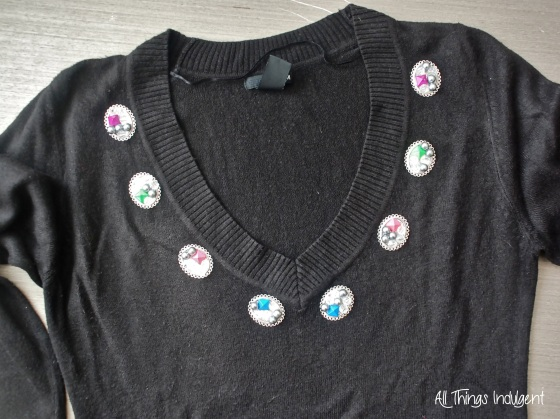 Embellished Jumper collar