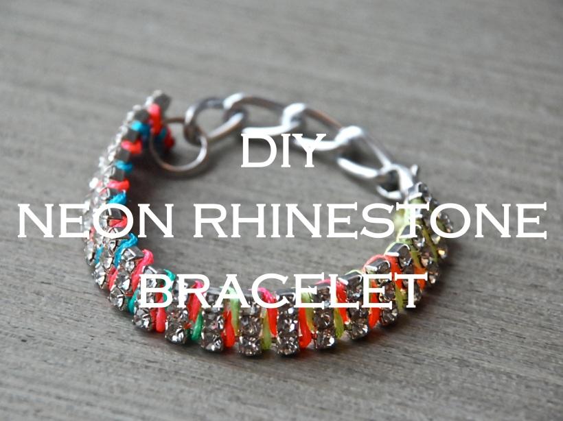 Neon Rhinestone Bracelet