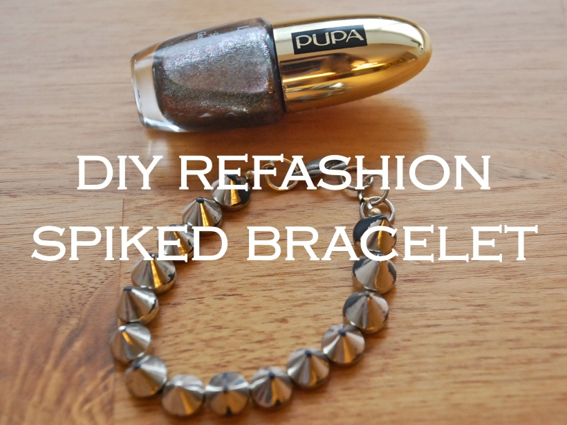 Refashioned Spike Bracelet