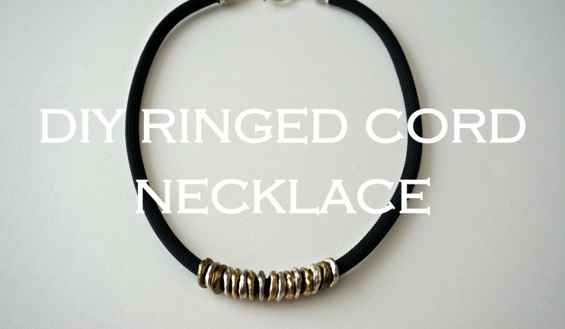 DIY Ringed Cord Necklace