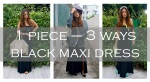How to style your black maxi