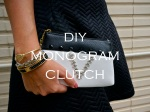 DIY Monogram Clutch