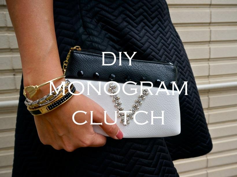 DIY Monogram Clutch