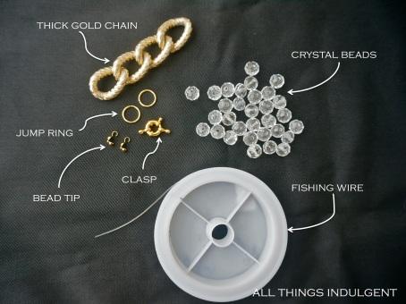 DIY Chunky Chain Bead Bracelet