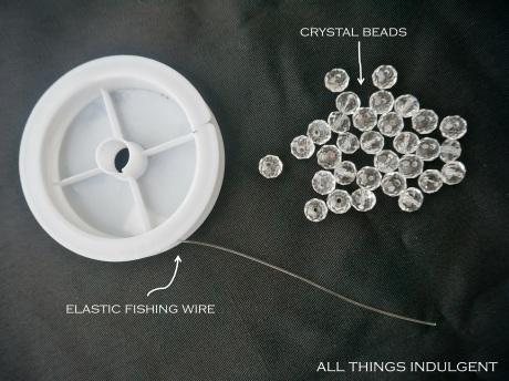 DIY Elastic Crystal Bracelet