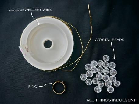 DIY Vintage Crystal Ring