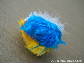 DIY Feather Easter Egg