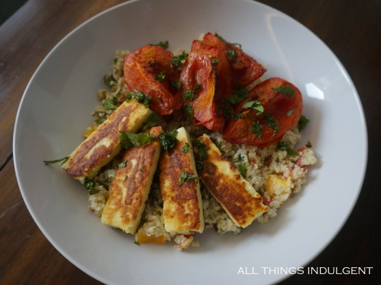 Tomato Halloumi Cous cous recipe